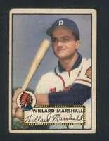 1952 Topps #96 Willard Marshall VG/VGEX Bos Braves 108494