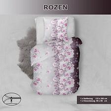 4 tlg. Bettwäsche Microfaser Rozen 135x200cm Kissenbezug 80x80cm Top Angebot