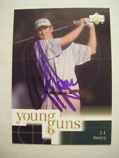 J.J. HENRY signed 2001 Upper Deck golf card AUTO TCU HORNED FROG FAIRFIELD CT JJ