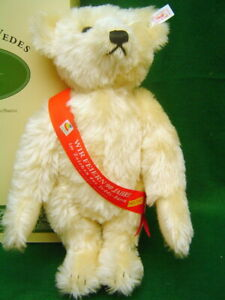 STEIFF Vedes Teddy Bear 16 inch Blonde mohair Germany Exclusive Limited Edition