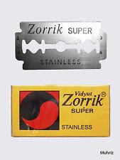 10pcs Zorrik Super Razor Blades Double Edge Safety Shaving Stainless Steel