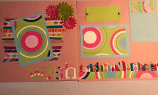 Handmade Premade 12x12 Scrapbook Pages bIRTHDAY