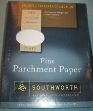 SOUTHWORTH FINE PARCHMENT PAPER, Ivory, Watermarked; 984C; 24 lb; 500 Sheets