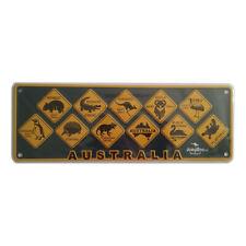 'AUSTRALIA' ROADSIGNS SOUVENIR NUMBER PLATE