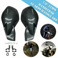 Universal CARBON Handguards Wind Deflectors Protector Motorcycle Motorbike Quad