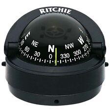 "Ritchie S-53 Explorer Marine Compass Surface Mount Black 2-3/4"""