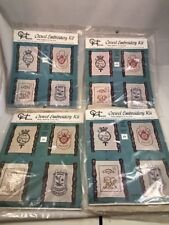 Custom House Crewel Embroidery Kits Bundle Tax Stamps New Sealed