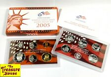 2005-S Us Mint 90% Silver Proof Set 50 States Quarters 11 Coins w/Ogp & Coa Nr!