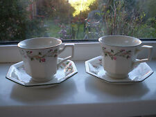Johnson Brothers Eternal Beau Tea Cups & Saucers x 2 British