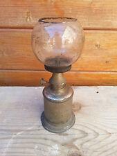 """Ancienne lampe à pétrole type pigeon avec son verre 'jus"""""""