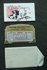 1947 CALENDAR GOLDEN PHEASANT CAFE CHINESE AMERICAN SEATTLE Beautiful & Complete