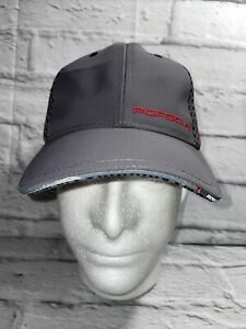 Porsche Licensed Adjustable Golf Hat Gray Red Adjustable Unisex NWOT
