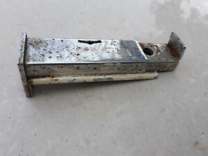 Vintage Door Window Booire lock Metal Silver Push lock rare