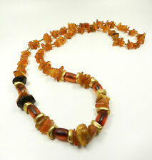 Designer Natur Bernstein Kette Butterscotch African Amber Trade Bead Necklace