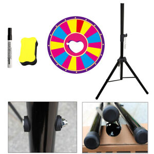 """24"""" Spinning Prize Wheel 18 Slots w/ Color Dry Erase Fortune Spin Game Carnival!"""