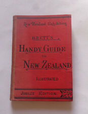 "BRETT""S HANDY GUIDE TO NEW ZEALAND: Travel / Christchurch / Mount Cook /  1890"