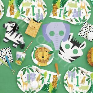 Jungle Animal Theme Party Decorations Boys Girls 1st Birthday Balloons Tableware