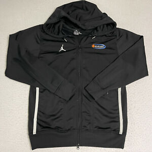 Jordan Brand Nike Small Mens Activewear Jacket Black Full Zip Hooded Sweat Shirt