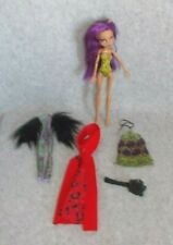 Mattel 2008 Monster High Purple Hair Clawdeen Wolf Doll Brush & Extra Clothes