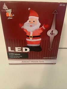 Lighted Waving Santa Christmas Inflatable 4FT Airblown Lawn Decoration