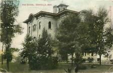 Michigan, MI, Greenville, High School 1910 Postcard