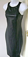 PVC DRESS  -  SEXY GOTH / STEAMPUNK -calf length, fitted, stretchy SIZE  10