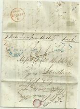 # 1842 BALTIMORE USA PART LETTER TO HUTH RED LONDON SAN SERIF ARRIVAL SUNDAY L29
