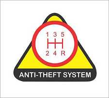 Anti-Theft System Funny Car  Window Vinyl Slap Decal Sticker Civic Accord WRX