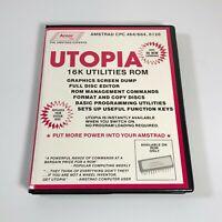 UTOPIA 16k Utilities ROM - Amstrad CPC 464/664/6128 ROM Version - COMPLETE