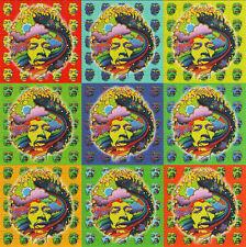 More details for jimi hendrix 9 panel by jeff hopp blotter art