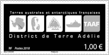 fsat 2018 taaf antarctic District Terre Adelie map pingouin boat iceberg 1v mnh