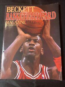 1990 Beckett Basketball Magazine First Issue #1 Michael Jordan Bulls GOAT