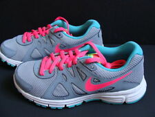 NEW Girls NIKE Revolution Running Shoes Size 6 Sneakers Gray Track Trail 2GS NIB