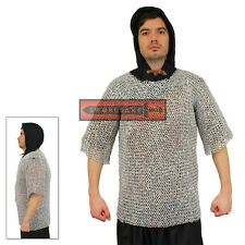 Chainmail Shirt Armor Aluminum 4 in 1 Medieval Jerkin Metal Light Weight Chest