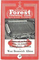 Nottingham Forest v West Bromwich Albion 1962/3 FA Cup
