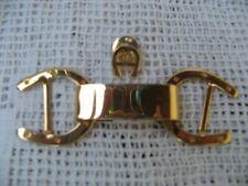tolle Vintage Gürtelschließe doppelt Hufeisen Glücksbringer + Aigner Pin Brosche