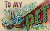 To My Pet Greetings Postcard - 1909