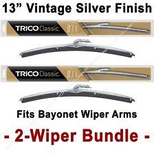 "2-Wiper Bundle: TRICO Classic Wiper Blades 13"" Silver Finish - 33-130 x2"