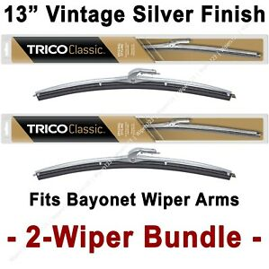 "2-Wiper Bundle: TRICO Classic Wiper Blades 13"" Silver Finish - 33-130 x2"