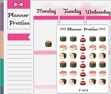 P1613 Kawaii Sushi Planner Stickers