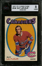 1971-72~O-PEE-CHEE~#148~GUY LAFLEUR~HOF ROOKIE~REALLY WELL CENTERED~KSA 8 NM-MT
