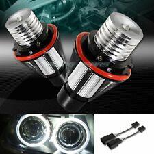 FOR BMW E39 E53 E60 E63 E64 E65 E66 WHITE LED 6W ANGEL EYES HALO LIGHT BULBS