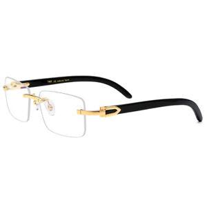 Luxury Natural Buffalo Horn Eyeglasses frames Rimless Man Woman Glasses RX able