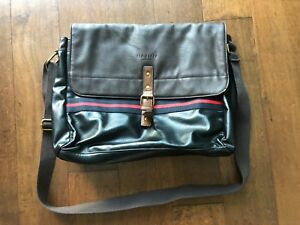 Ted Baker London Faux Leather Messenger Bag Briefcase BRAND NEW!