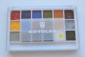 Kryolan Body Illustration Make-up colour Palette.18 colours 'FX'
