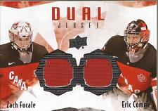 ZACH FUCALE & ERIC COMRIE 2015-16 UD Team Canada Dual Jersey TCD-FC Montreal