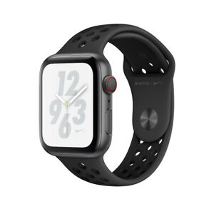 NEW Apple Watch Series 4 Nike+ 44mm Gray Aluminum Case Sport Band GPS Cellular