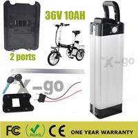 2 Ports SilverFish 36V 10Ah Lithium Ion (Li-Ion) Battery 350W Electric Bicycle