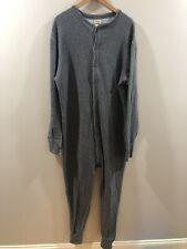 LL Bean One Piece Union Suit Pajamas Wool Blend Men's Size XL Long Johns Gray