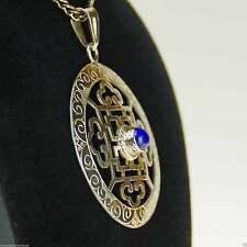 Echte Edelstein-Halsketten & -Anhänger aus Feinsilber mit Lapis Lazuli